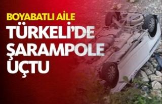 Otomobil Şarampole Yuvarlandı 2  Yaralı