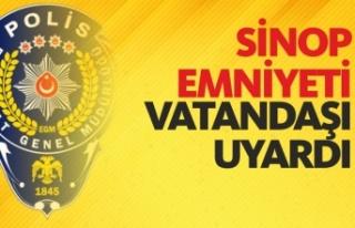 Sinop Emniyeti KPSS İçin Vatandaşları Uyardı