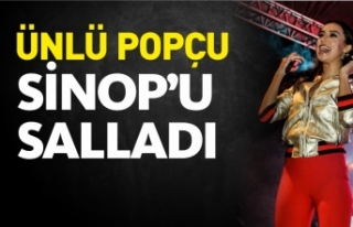 Ünlü Şarkıcı Tuğba Yurt Sinop'ta Konser...