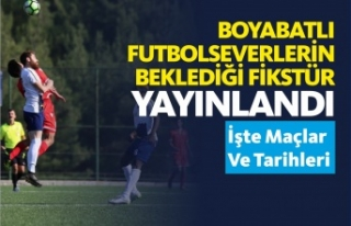 Boyabatlı Futbolseverlerin Beklediği Fikstür Yayınlandı