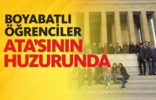 Boyabatlı Öğrenciler Başkent Ankara'yı Gezdi