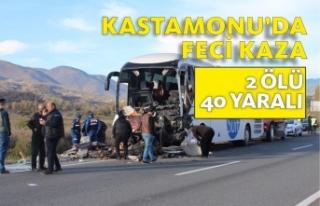 Kastamonu'da Feci Kaza Yolcuları Taşıyan Otobüs...