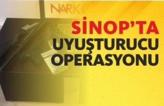 Sinop'ta düzenlenen uyuşturucu operasyonunda...