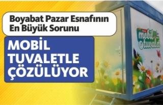 Boyabat Belediyesi vatandaşlar için mobil tuvalet...