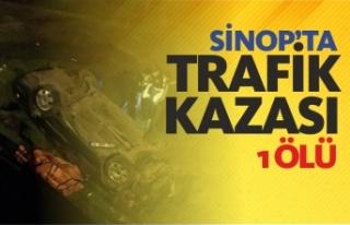 Sinop'ta trafik kazası 1 ölü