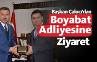 Başkan Çakıcı'dan Boyabat Adliyesine ziyaret