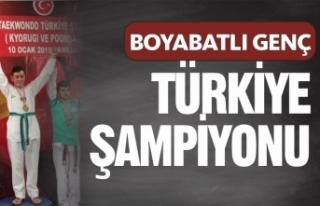 Boyabatlı Genç Türkiye Şampiyonu Oldu