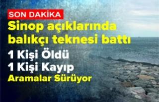 Sinop'ta Balıkçı Teknesi Battı 1 Ölü 1...