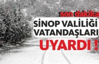 Sinop'un İç Kesimlerine Yoğun Kar Yağışı...
