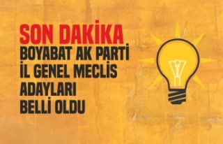 Ak Parti Boyabat İl Genel Meclis Üye AdaylarıBelli...