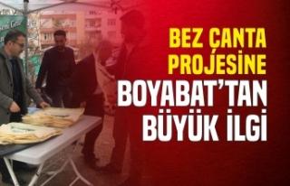 Boyabat'ta Bez Çanta Projesine Büyük İlgi