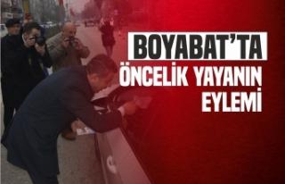 Boyabat'ta ''Öncelik Yaşamın Öncelik...