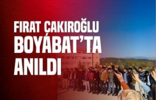 Boyabat Ülkü Ocakları Fırat Çakıroğlu'nu...
