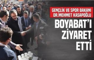 Gençlik ve Spor Bakanı Dr.Mehmet Kasapoğlu Boyabat'ı...