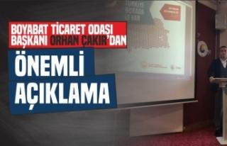 Boyabat Tso Başkanı Orhan Çakır Önemli Açıklamalarda...