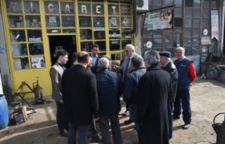 Hasan Kara ve ekibi Sanayi Esnafını ziyaret etti.