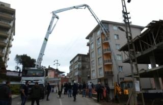 İnşaatta çalışan işçi elektrik akımına kapıldı