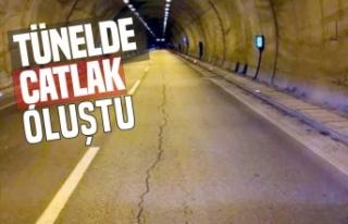 Tünel tabanında çatlak oluştu