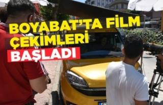 Boyabat'ta Film Çekimleri Başladı