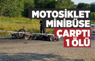 Motosiklet sürücüsü hayatını kaybetti
