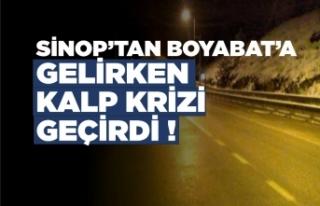 Sinop Boyabat Yolunda Kalp Krizi Geçiren Kişi Hayatını...