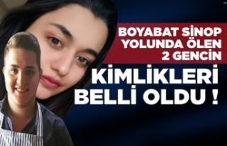 Sinop Boyabat Yolundaki feci kazanın ardından