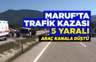 Boyabat Sinop Yolunda Araç Kanala Düştü: 5 yaralı
