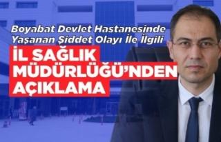 Boyabat'ta ki darp olayı ile ilgili Sinop İl...