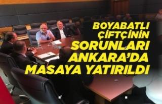 Boyabatlı Çiftçilerin Sorunları Ankara'da...