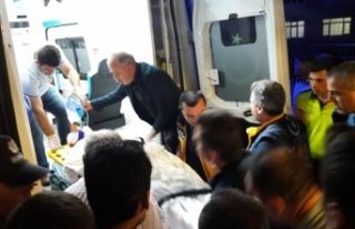 Boyabat'ta  vurulan kişi ağır yaralandı