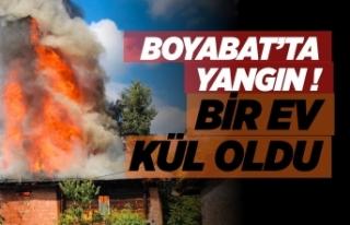 Boyabat'ta yangın bir ev kül oldu !