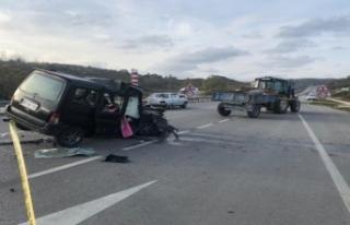 Sinop Yolunda Trafik Kazası: 1 ölü, 1 yaralı