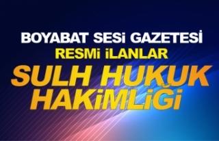 T.C. BOYABAT (SULH HUKUK MAH.)SATIŞ MEMURLUĞU 2019/1...