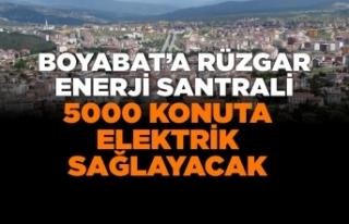 Boyabat'a Rüzgar Enerji Santrali,5000 konuta...
