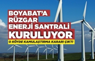 Boyabat'a rüzgar enerji santrali kuruluyor,acele...