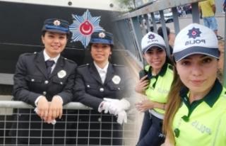 Sinoplu abla-kardeş aynı şehirde trafik polisi...