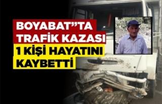 Boyabat'ta trafik kazası 1 kişi hayatını...