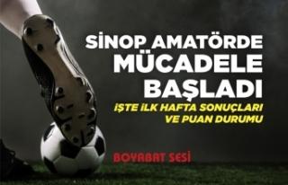 Sinop Amatör Küme Mücadelesi Başladı