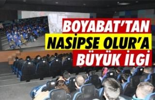 Boyabat'ta filmi izleyenler'' Nasip...
