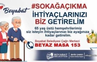 Boyabat'ta 65 yaş üzeri vatandaşların alışverişlerini...