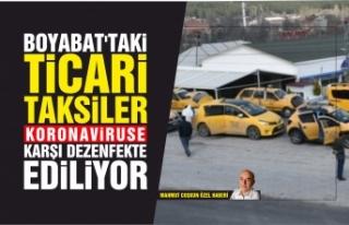 Boyabat'taki ticari taksiler koronavirüse karşı...
