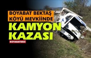 Boyabat Bektaş mevkiinde trafik kazası