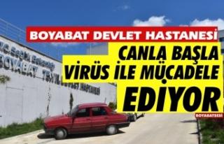 Boyabat Devlet Hastanesi Koronavirüs ile mücadele...