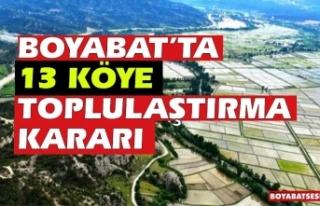 Boyabat'ta 13 Köye arazi toplulaştırma kararı