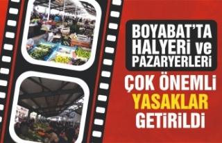 Boyabat'ta kurulan pazar yerleri için çok önemli...