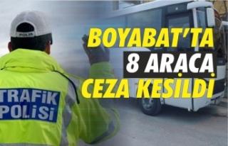 Boyabat'ta personel taşıma araçlarına ceza...