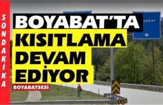 Boyabat,Saraydüzü,Durağan'da kısıtlama devam...