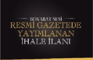 İHALE İLANI BOYABAT ORMAN İŞLETME MÜDÜRLÜĞÜ...