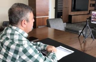 Milletvekili Maviş, konferans aracılığıyla toplantı...