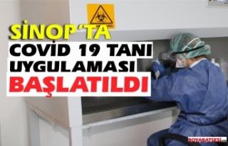 Sinop'taCovid-19 tanı uygulamasına başlandı...